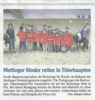 Meitinger Kinder reiten in Thierhaupten